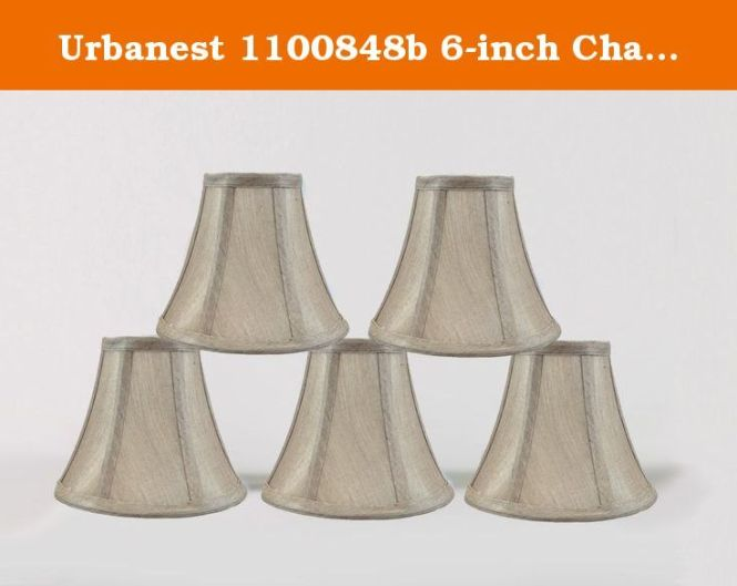 Urbanest 1100848b 6 Inch Chandelier Lamp Shade Champagne Set Of 5 Handmade