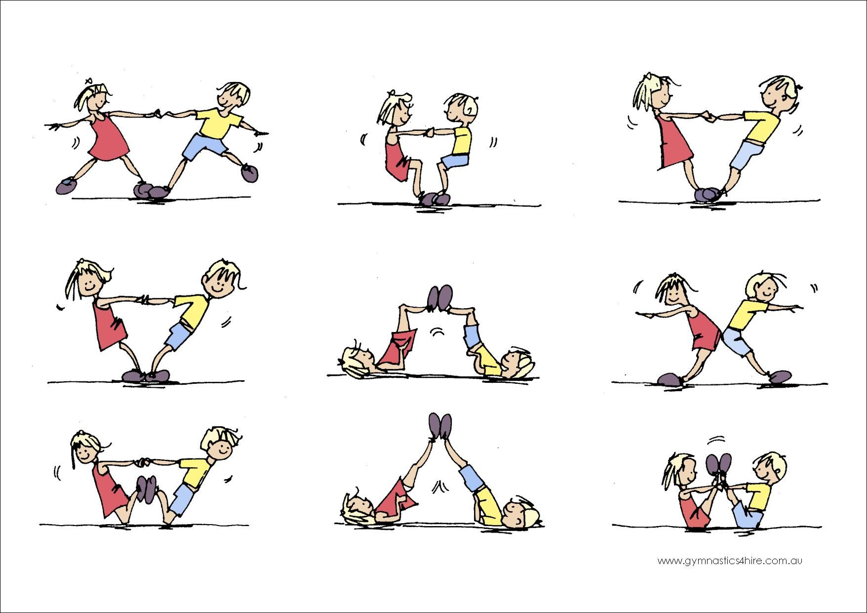 Gymnastics Partner Balance Activities