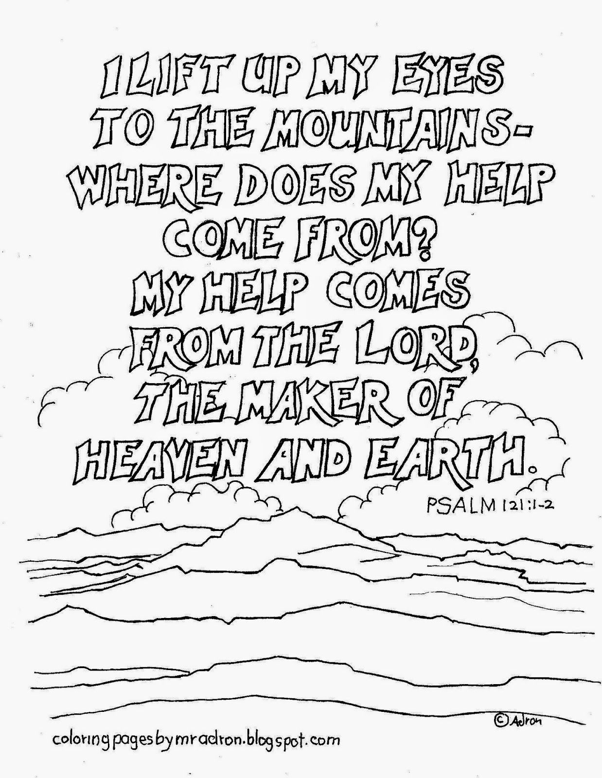 Psalm 121 1 2 Coloring Page See More At My Blog Coloringpagesbymradronspot