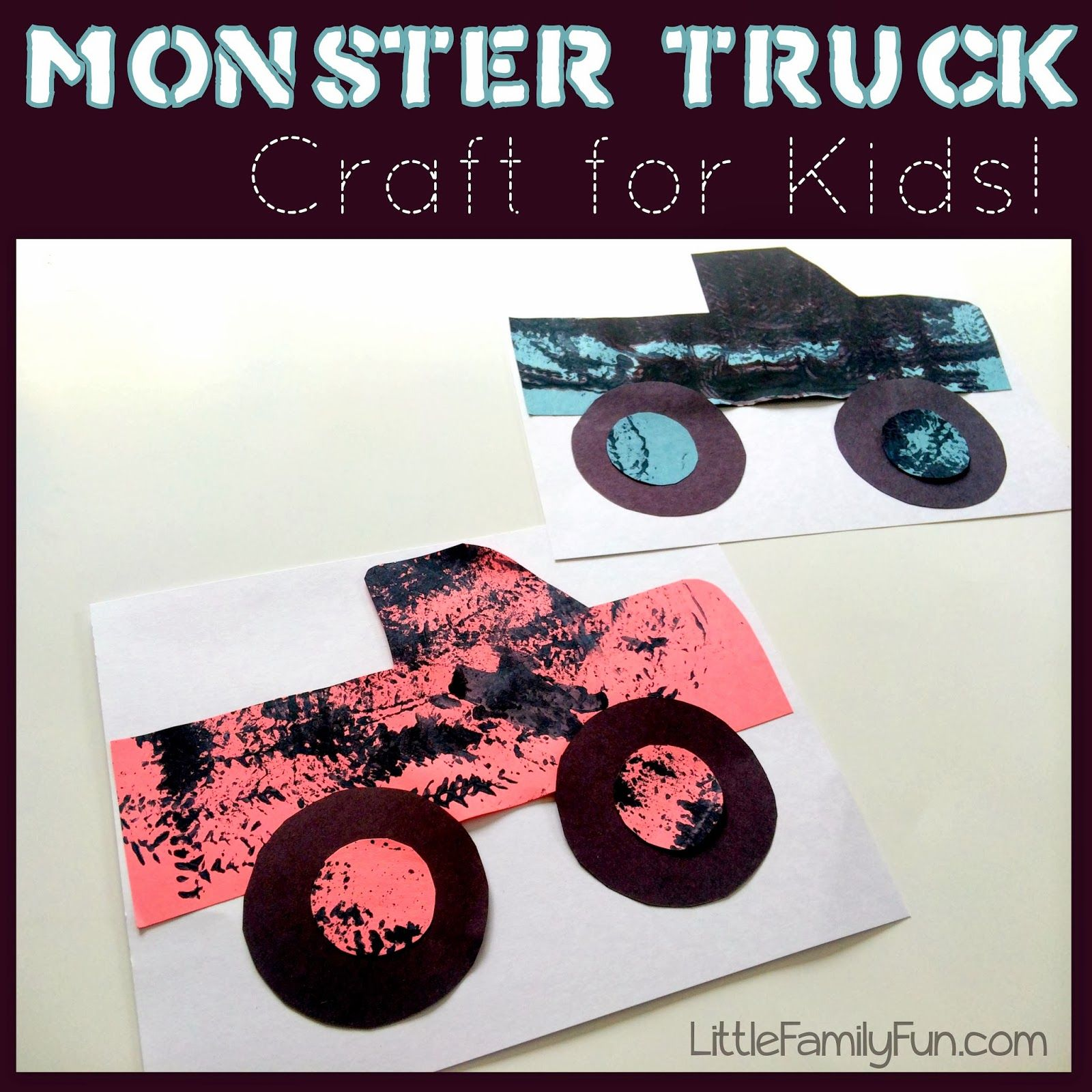 Monster Truck Craft So Fun For Kids And Very Simple