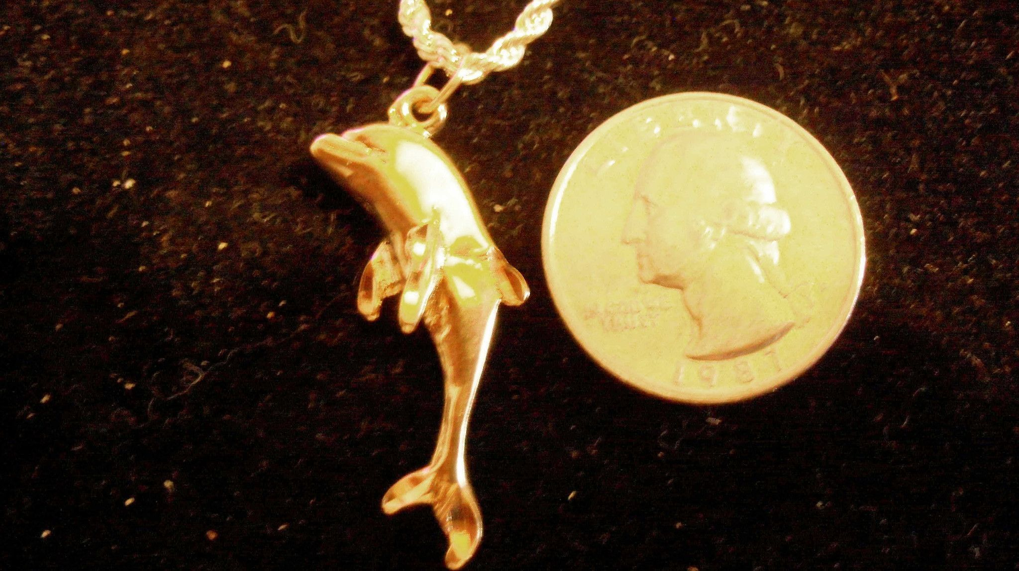 Bling 14k Yellow Gold Plated Sea Ocean Beach Animal
