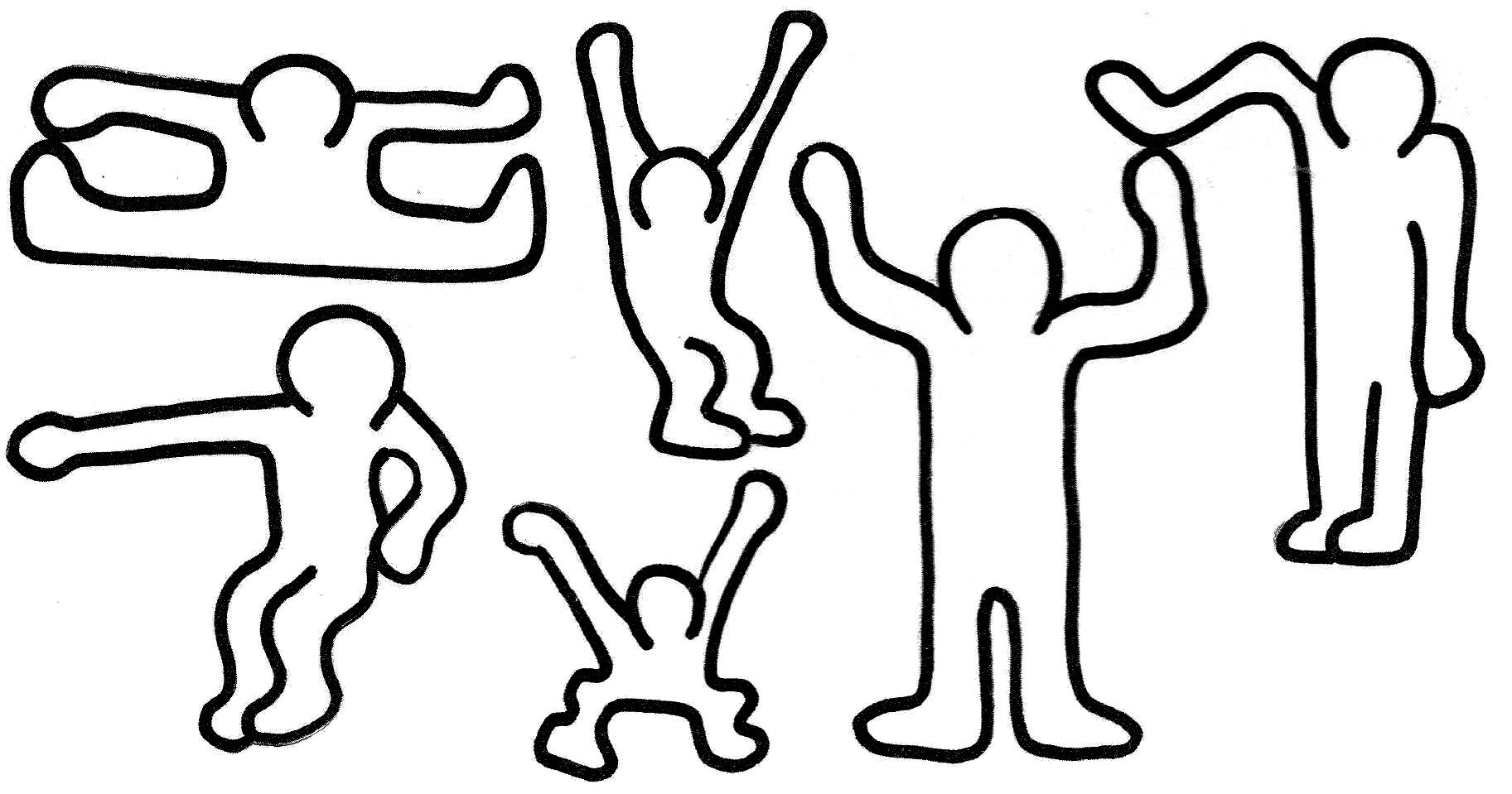 Keith Haring Colouring Pages