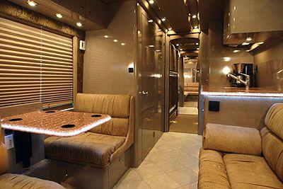 Justin Bieber Tour Bus Interior