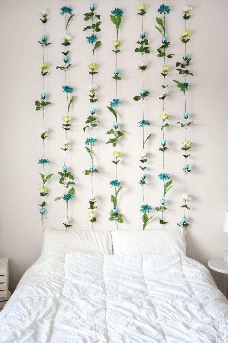DIY Flower Wall Headboard Home Decor Wall headboard Flower