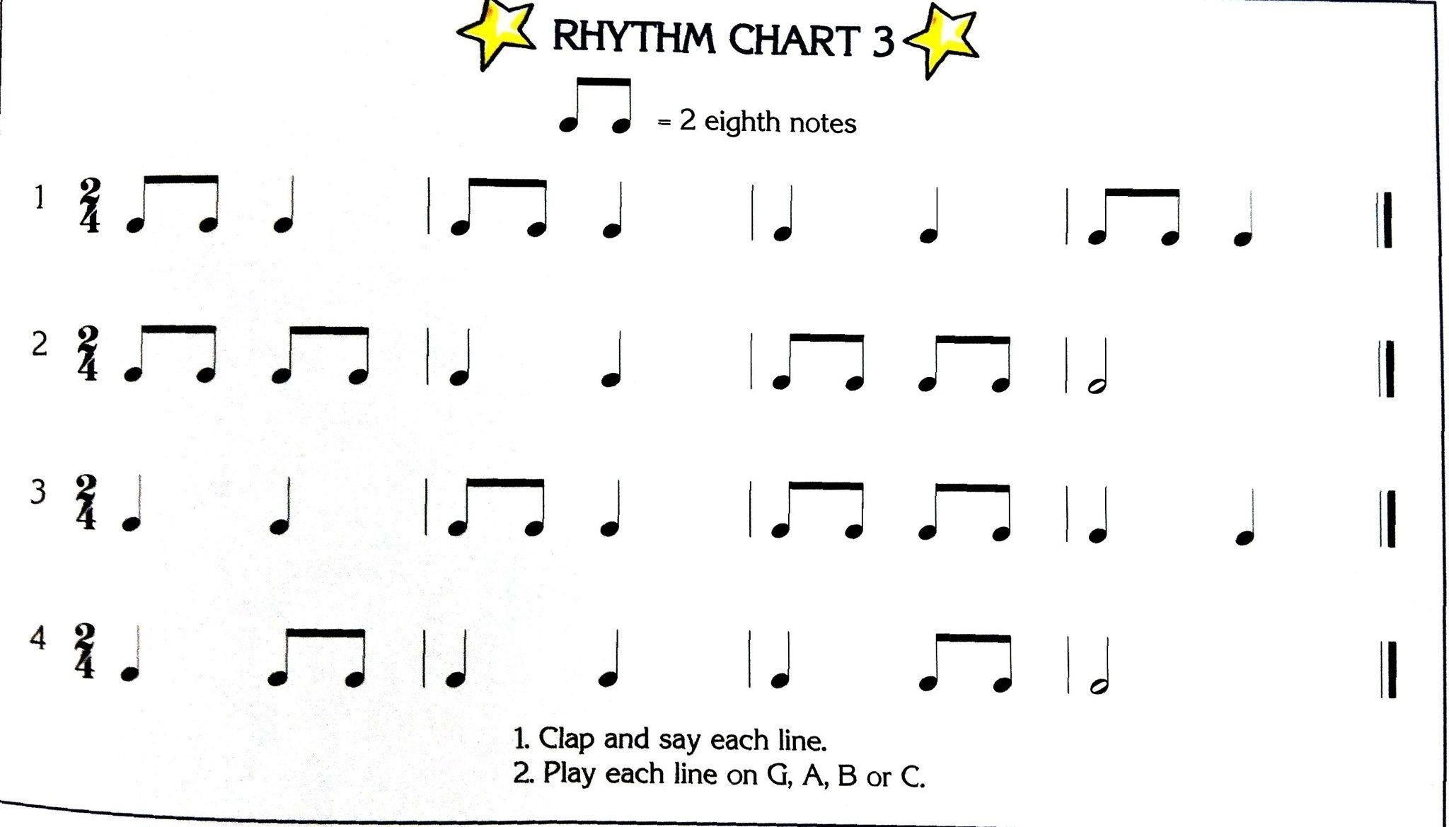 Simple Dumple Rhythms In 2 4 Time Signature