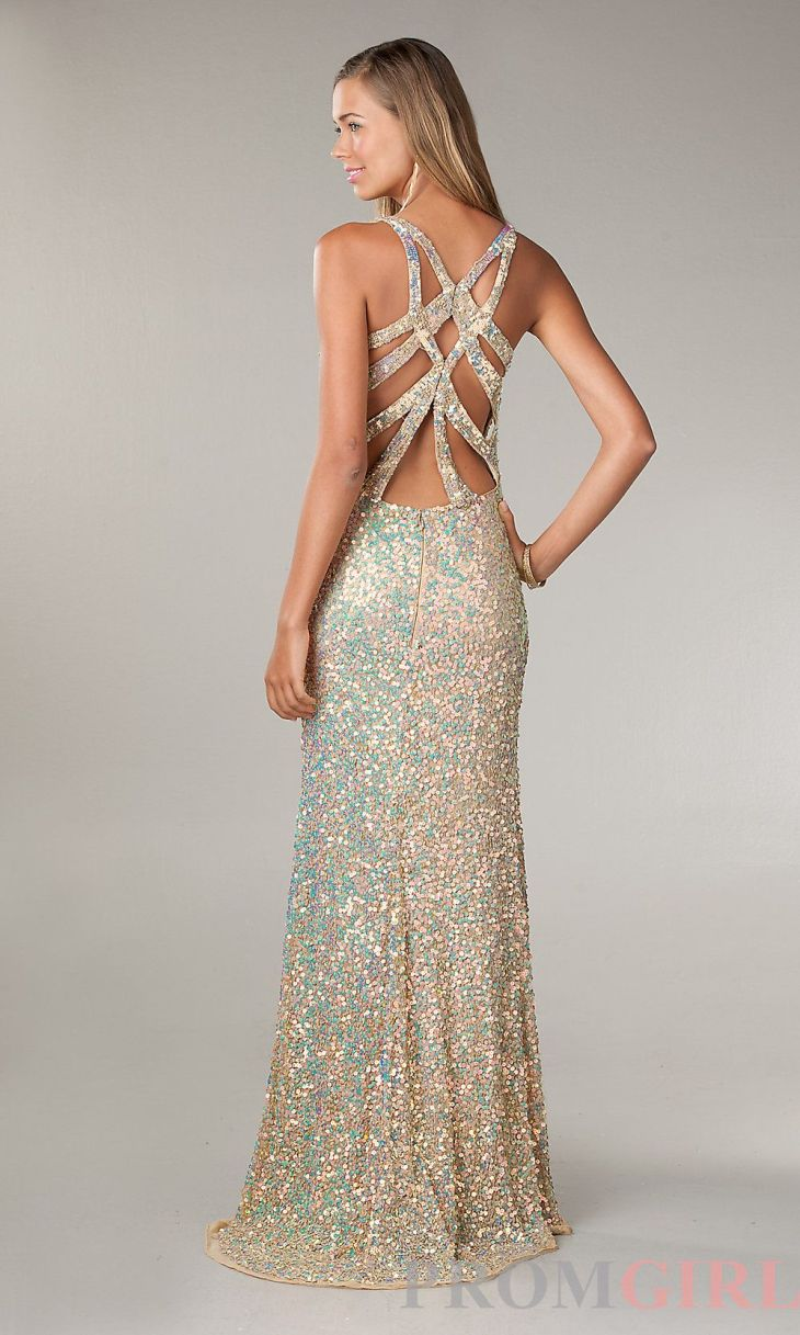 Long Sequin Dress for Prom by Primavera Beautiful Sexy and Glitter