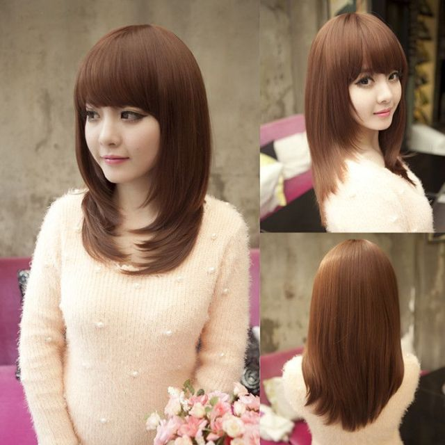 korean  haircut style for round  faces  Hairstyle  to cut