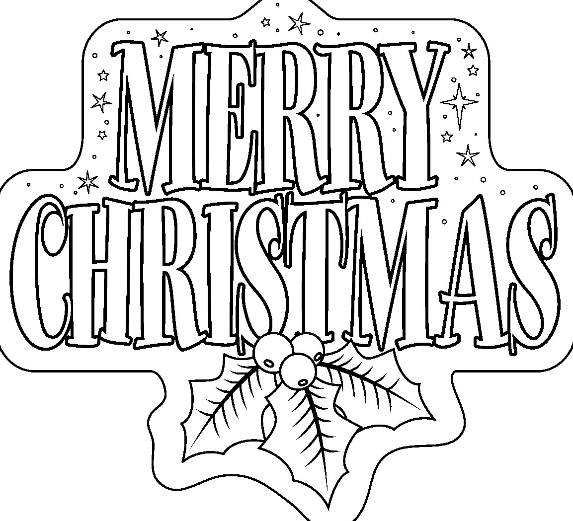 Merry Christmas Coloring Pages Printables For Kids