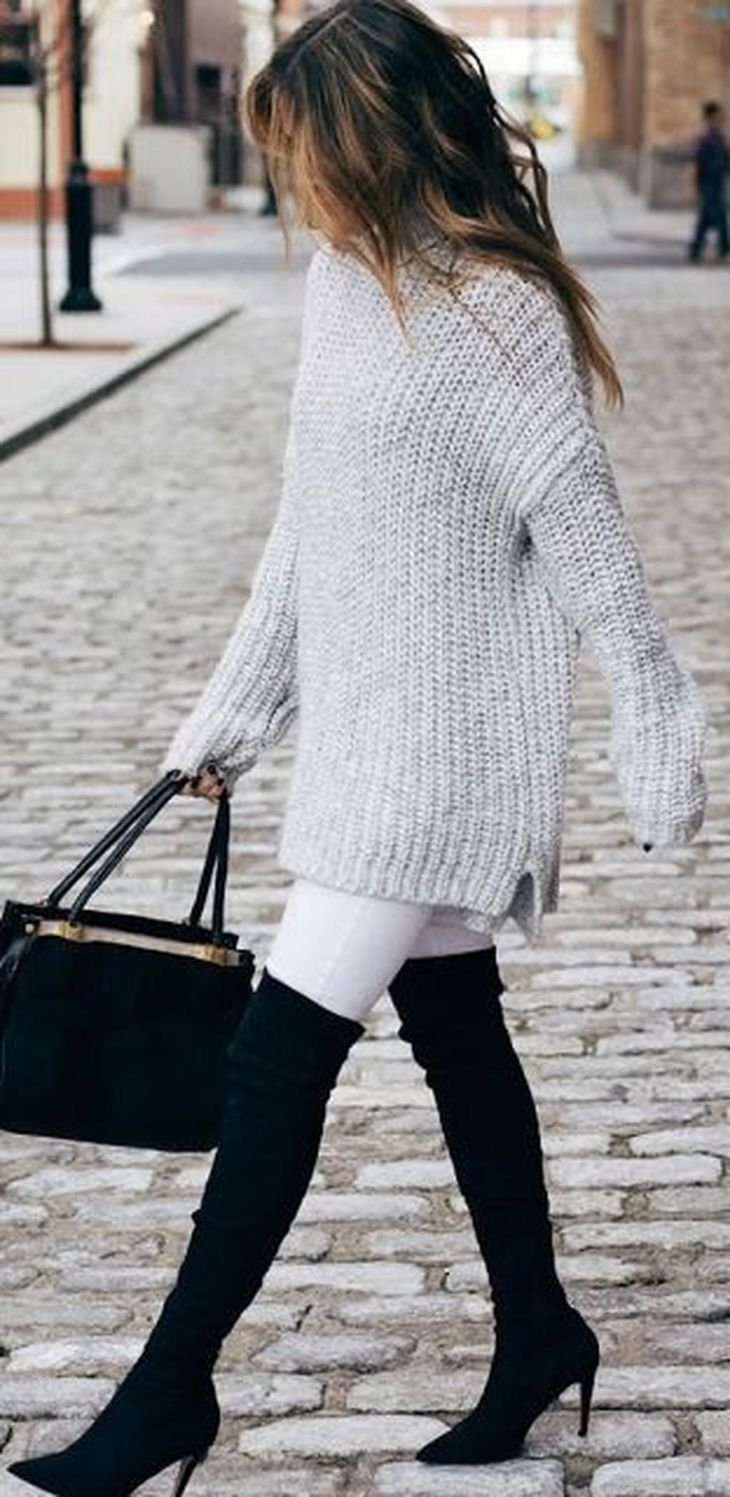 Nice Spectacular Winter White Dress Outfits Ideas with Pants