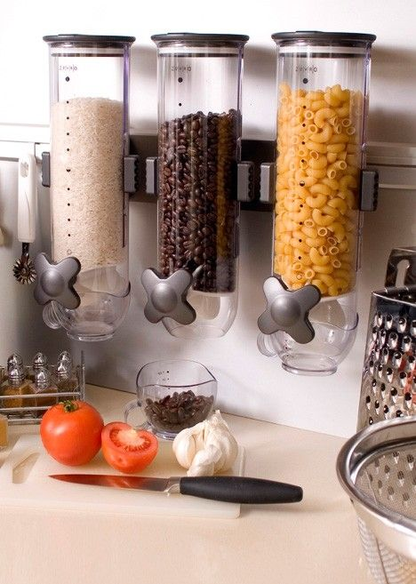 Dry Food Dispenser for Small Kitchens and Decreasing Food Waste