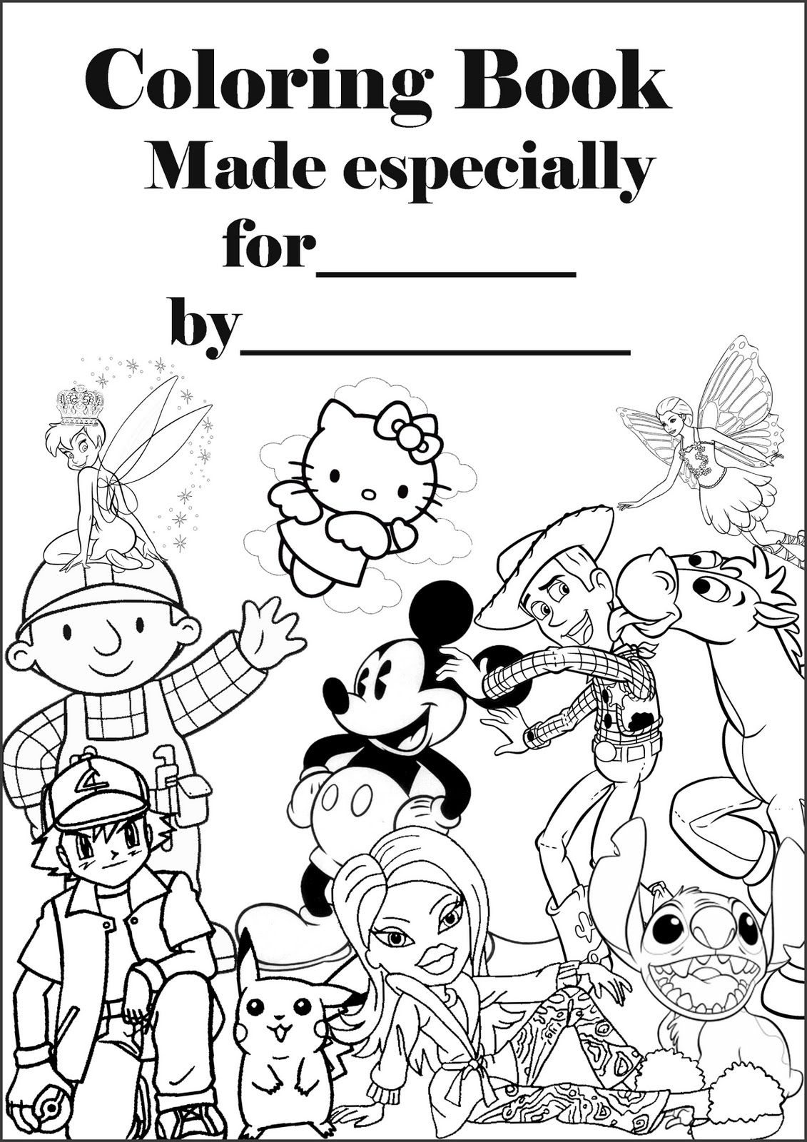 Disney Coloring Pages Coloring Book Personalised Cover Page