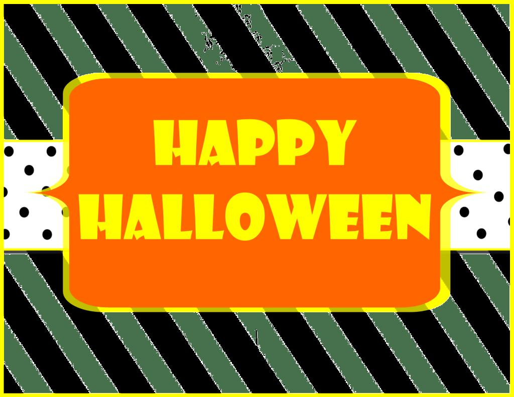 Free Printable Help Yourself Halloween Sign