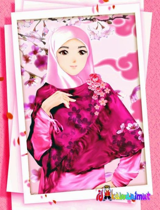 Gambar Gambar Kartun Hijab Cantik Baju Gamis Syari 20