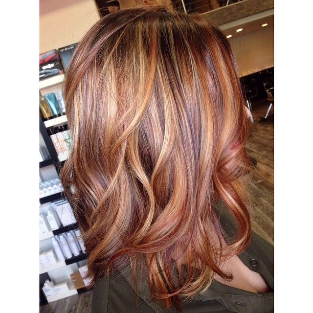 Pictures of red hair color with blonde highlights the best hair best 25 red blonde highlights ideas on fall hair pmusecretfo Image collections