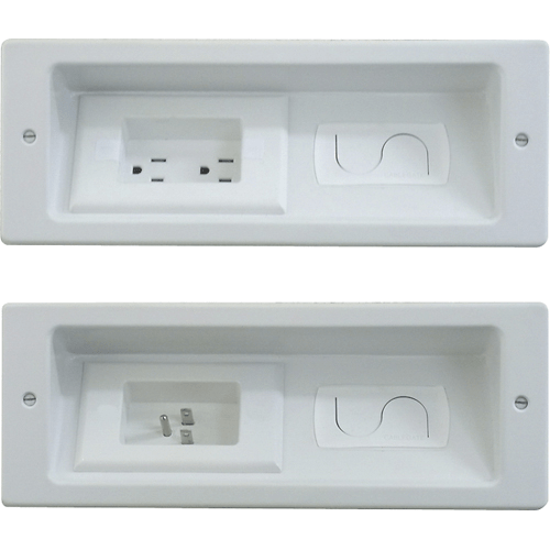 in wall outlet and cable organization for flat screen tv s on wall outlet id=26591