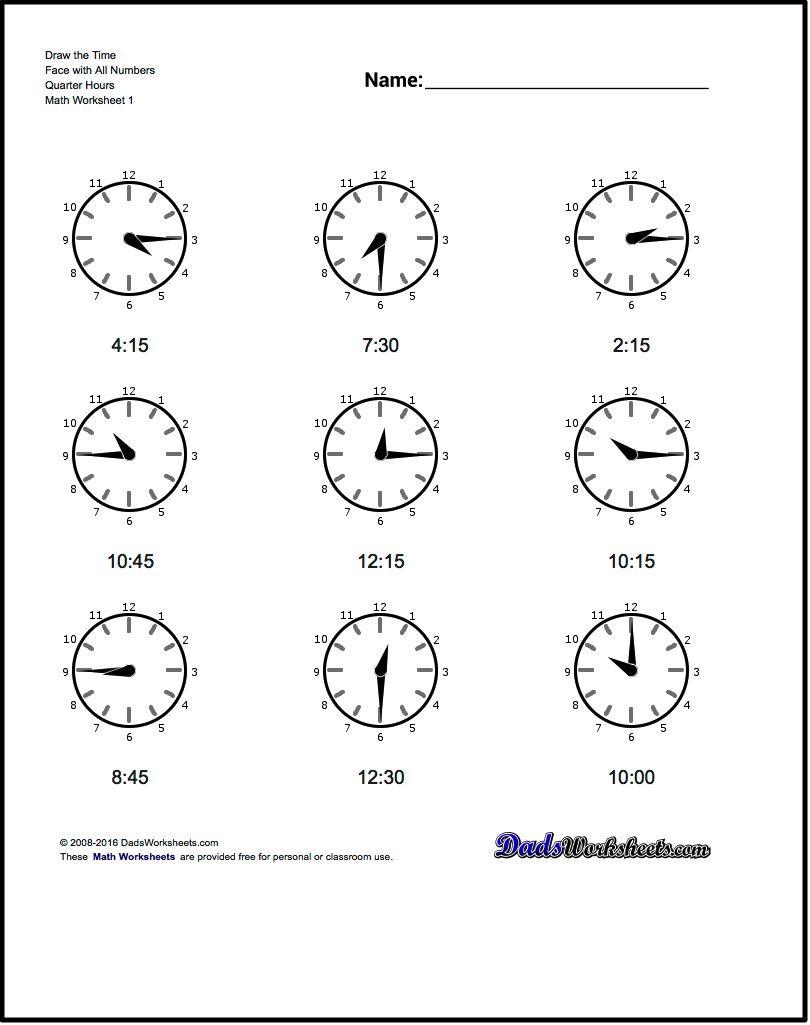 Free Pr Ctice W Ksheets Tell G N Log Clock Time