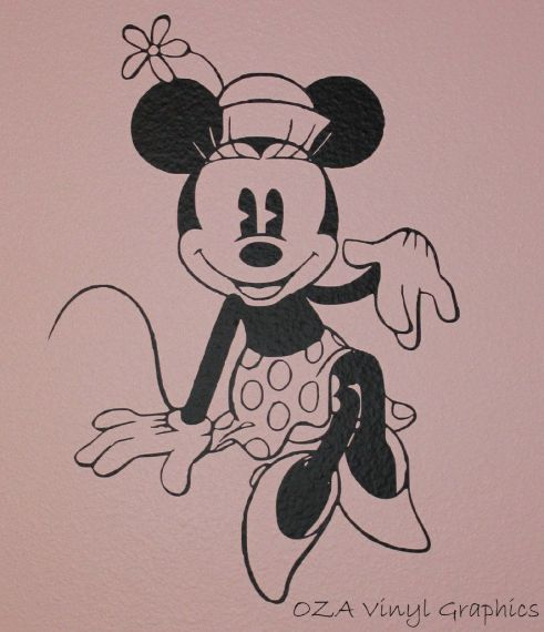 Vintage Minnie Mouse Decal by OZAVinylGraphics on Etsy   28 00     Free printable minnie mouse coloring pages for kids  Color this online  pictures and sheets and color a book of minnie mouse coloring pages