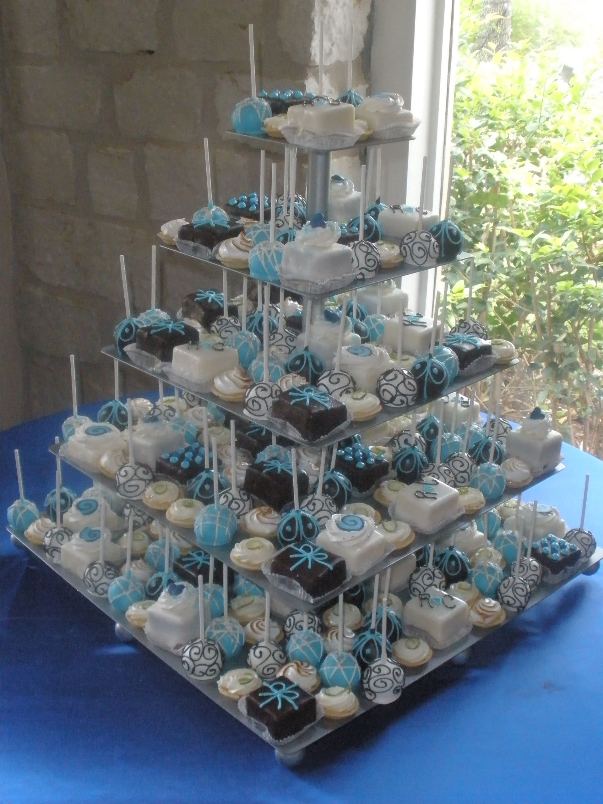 Petit Four And Cake Pop Tower