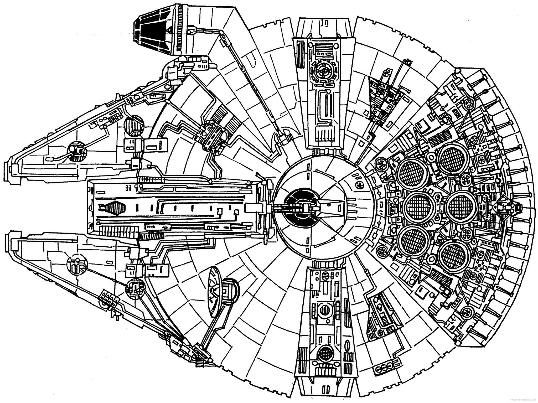 Millennium Falcon Plan View