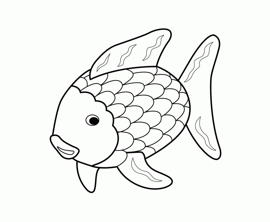 Printable 17 Rainbow Fish Coloring Pages