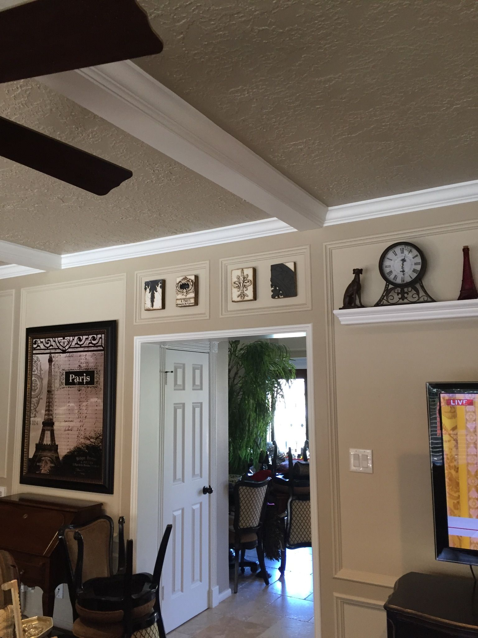 Family Room With Painted PanelingSherwin Williams