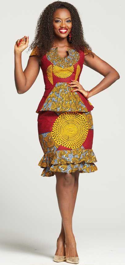 Latest African Fashion Ankara Kitenge African Women Dresses Bazin African Prints African