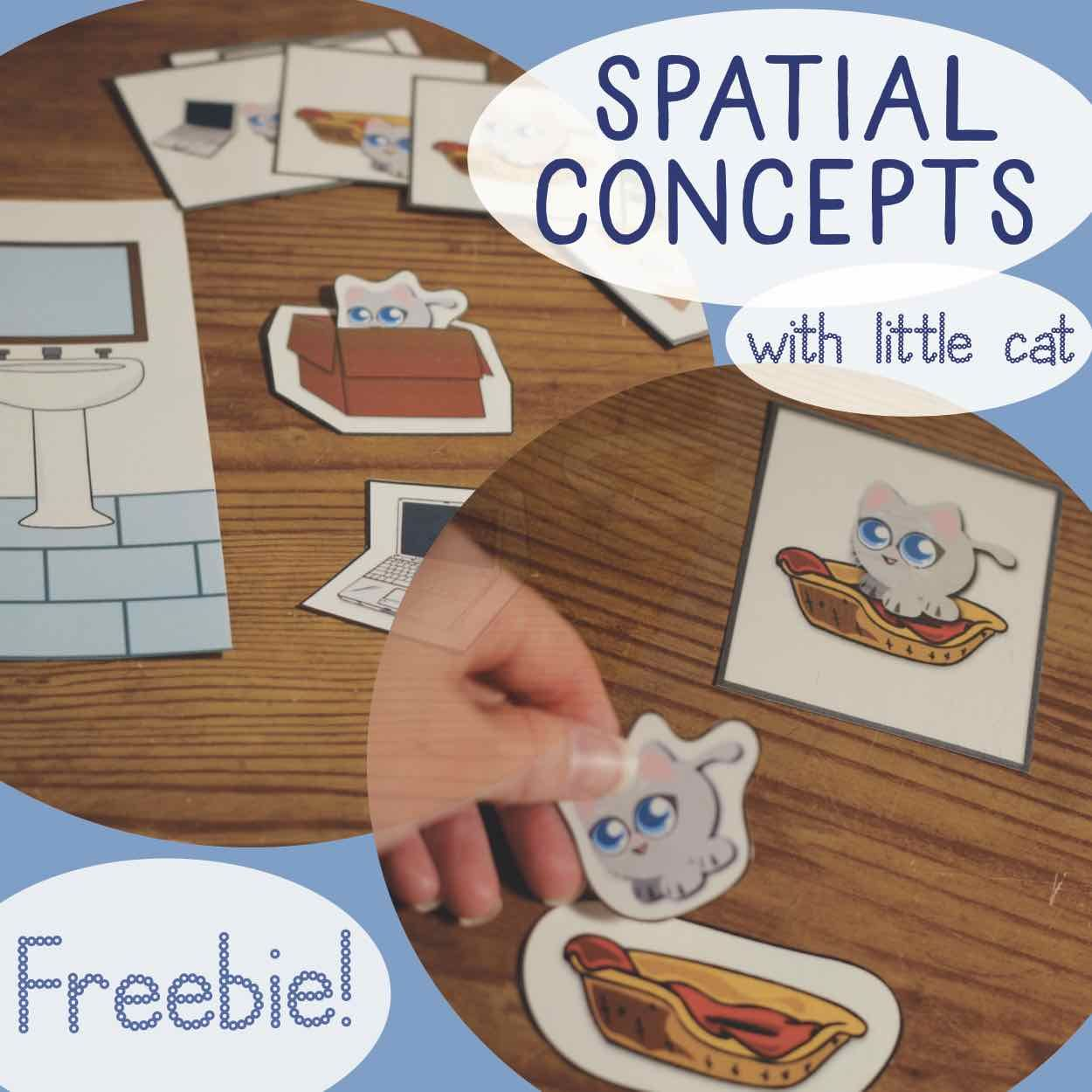 Spatial Concepts Prepositions Freebie From Cat Says Meow Speech Therapy Special Education