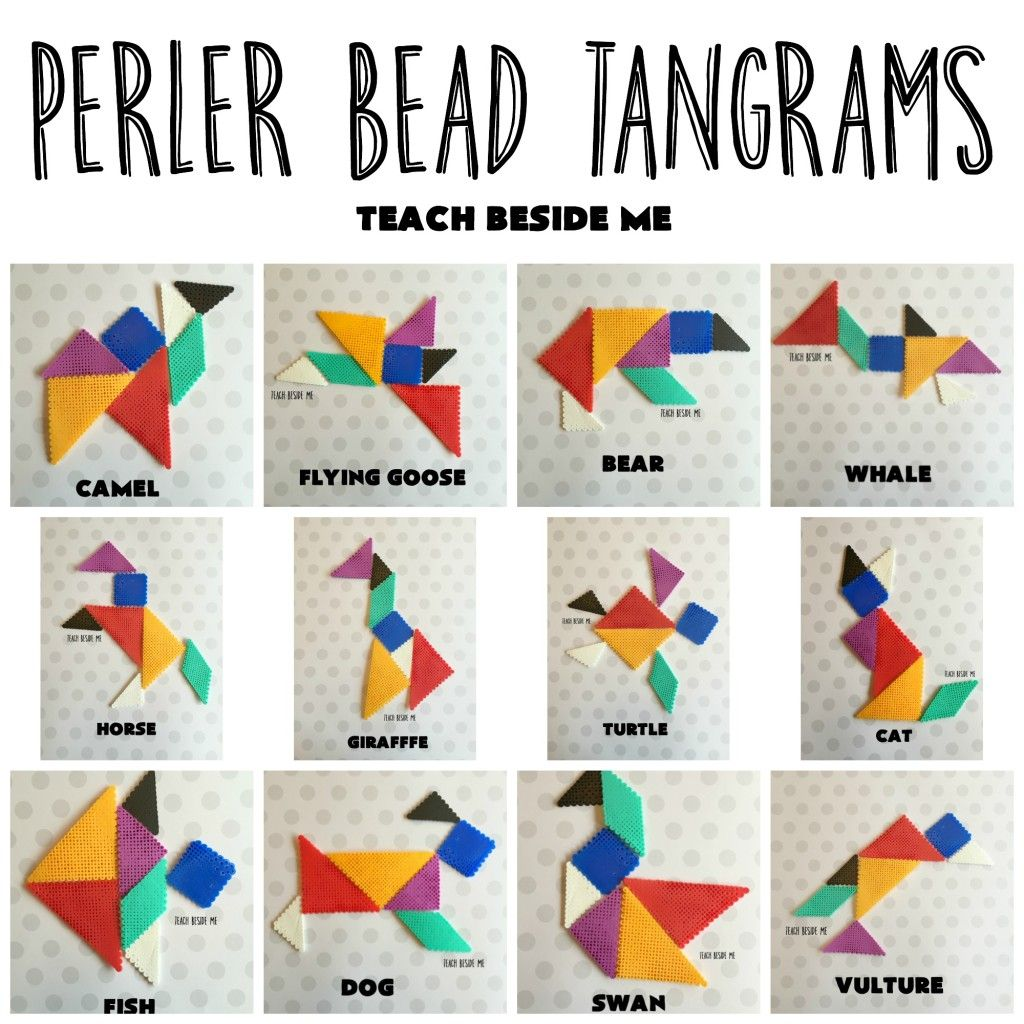 Make A Set Of Tangrams Out Of Perler Beads