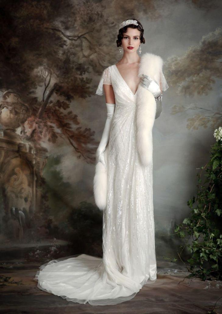 Eliza Jane Howell  Elegant Art Deco Inspired Wedding Dresses