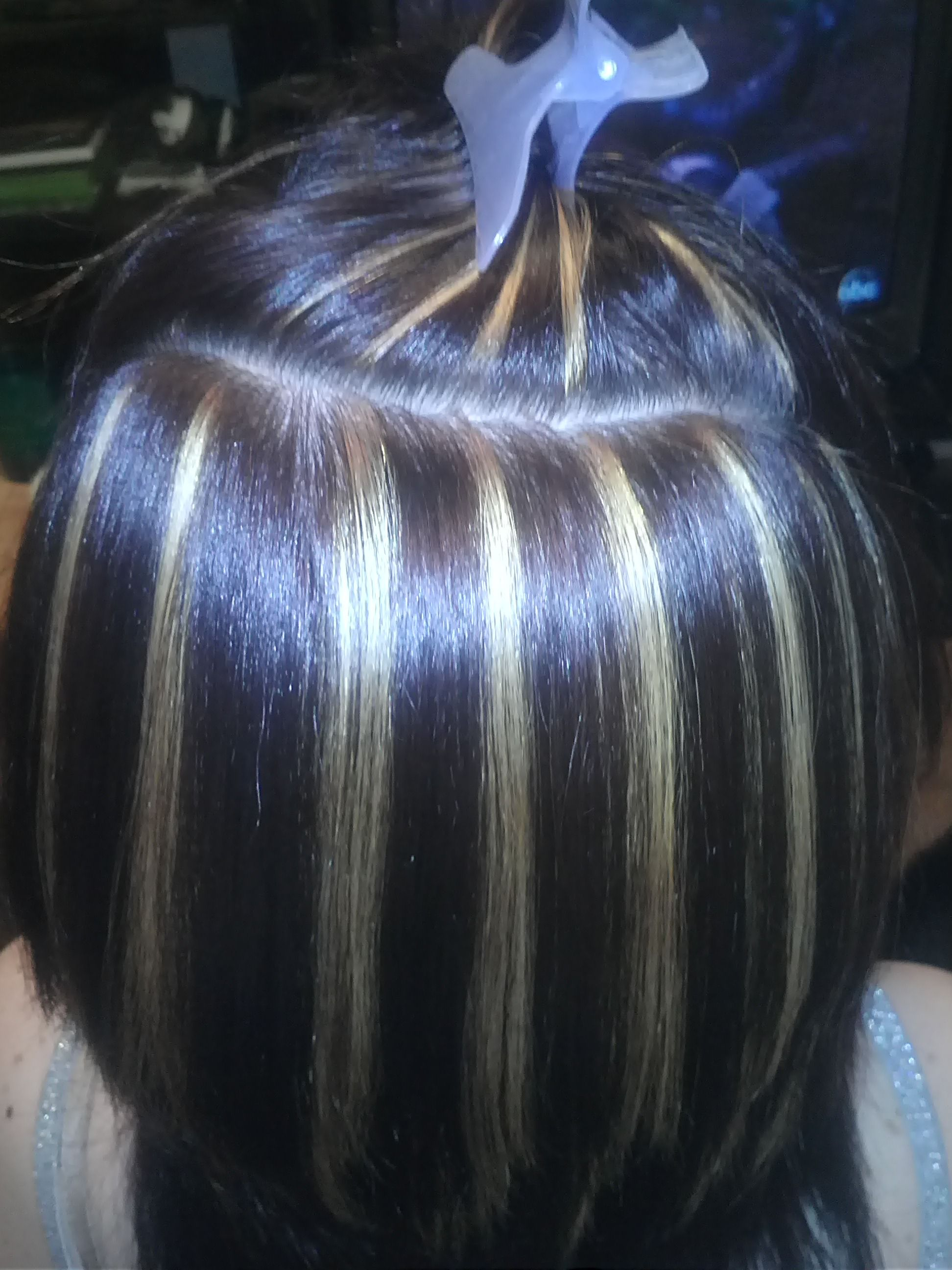 Vertical Highlights Done In Slices Heathers Hairstyles