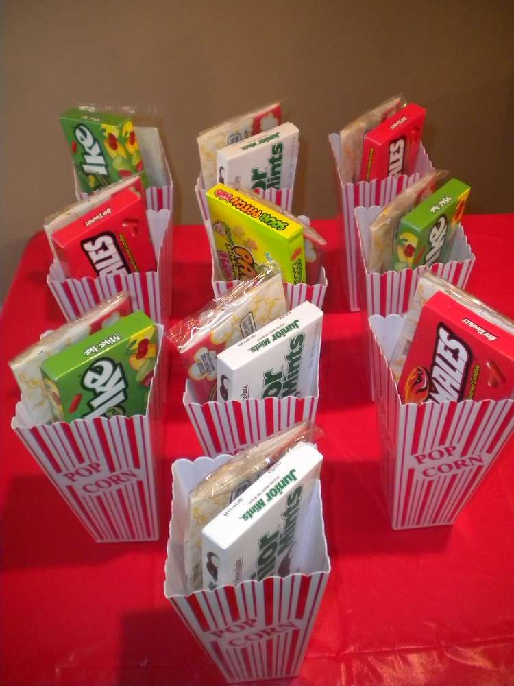 Movie Night Birthday Party Ideas Popcorn Containers