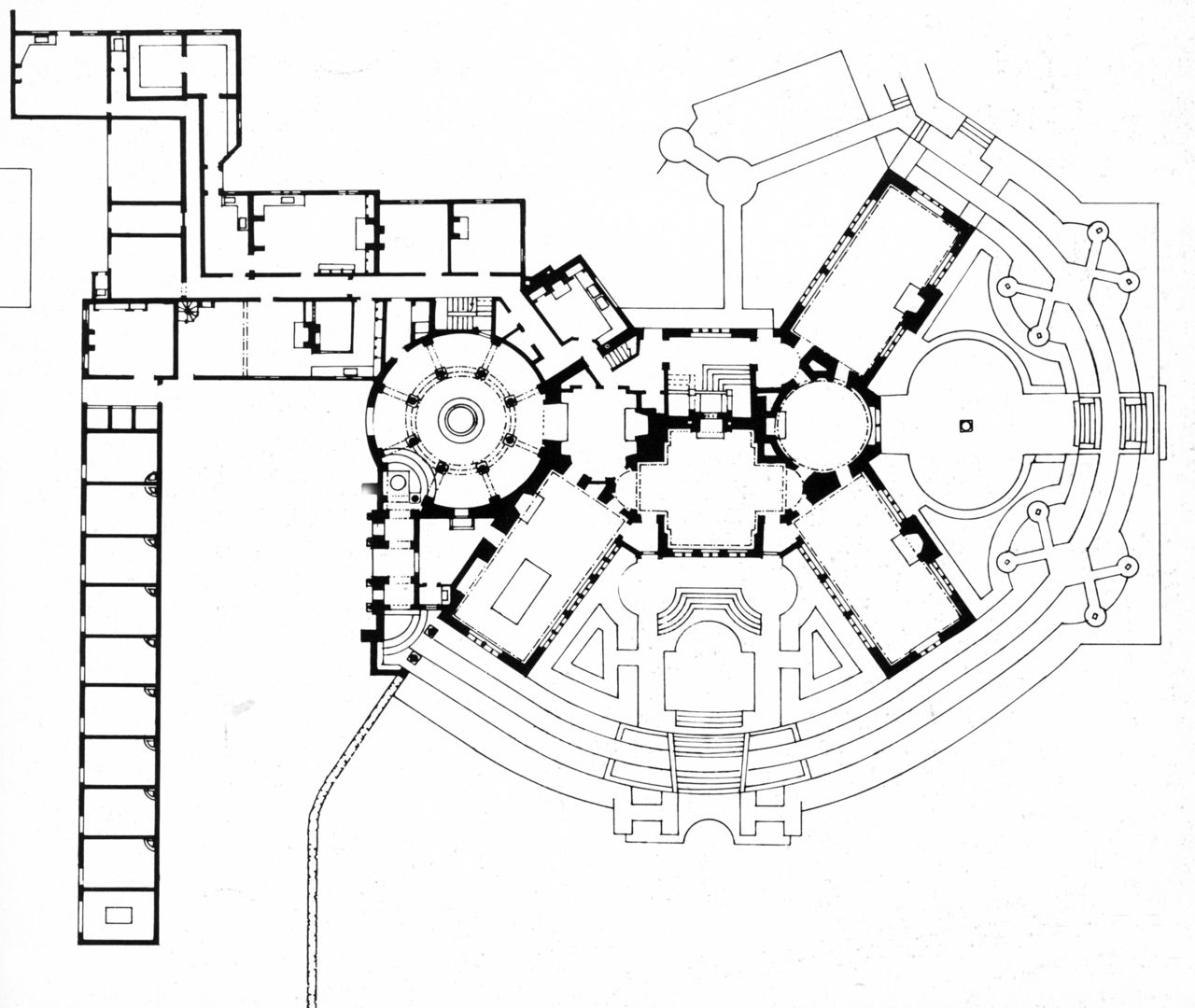 Edwin Lutyens Papillon Hall Demolished Floor Plan