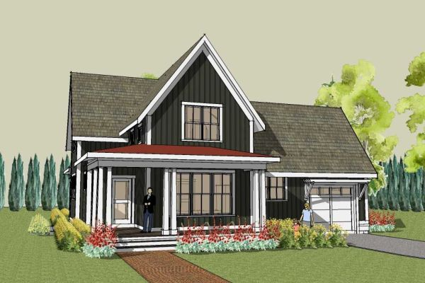 Cottage cabin small country home plans House Plans