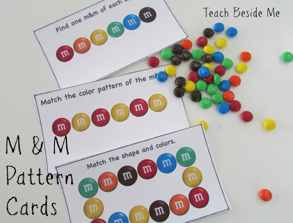 M Amp M Math Pattern Cards