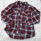 Red flannel around waist  Red Flannel ButtonUp