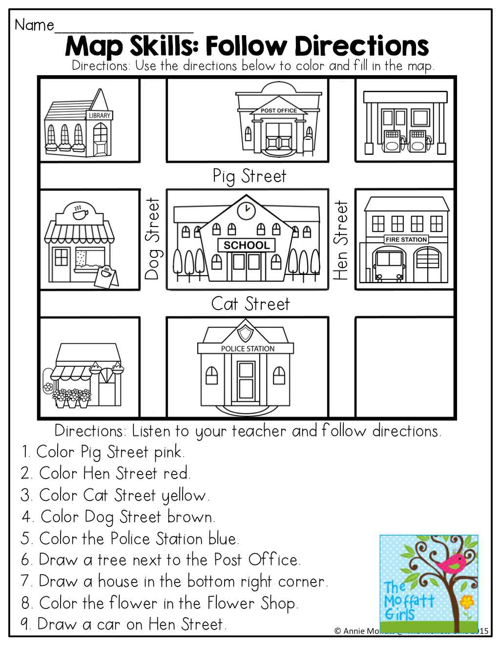 April No Prep Packet Kindergarten