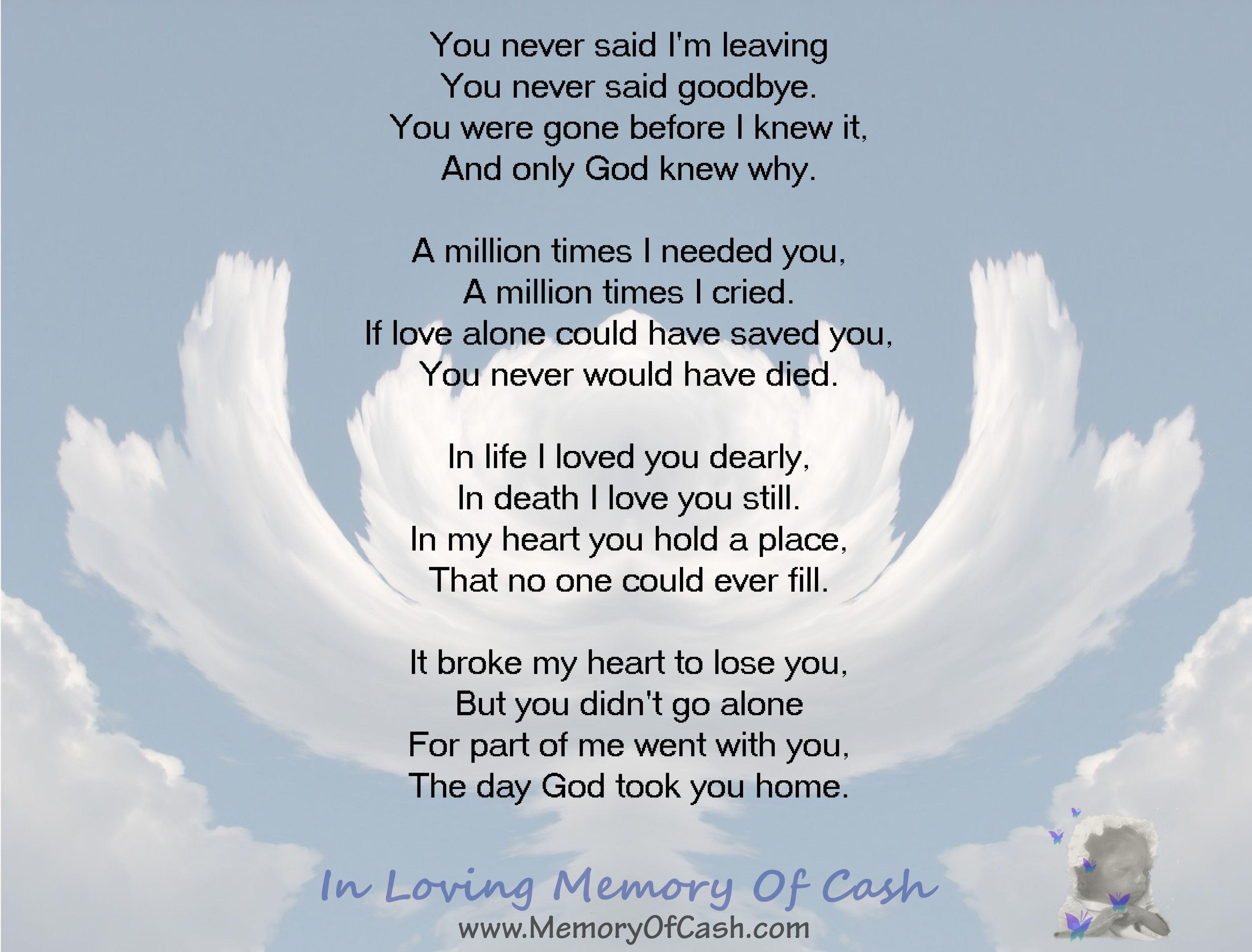 You Never Said I M Leaving You Never Said Goodbye You