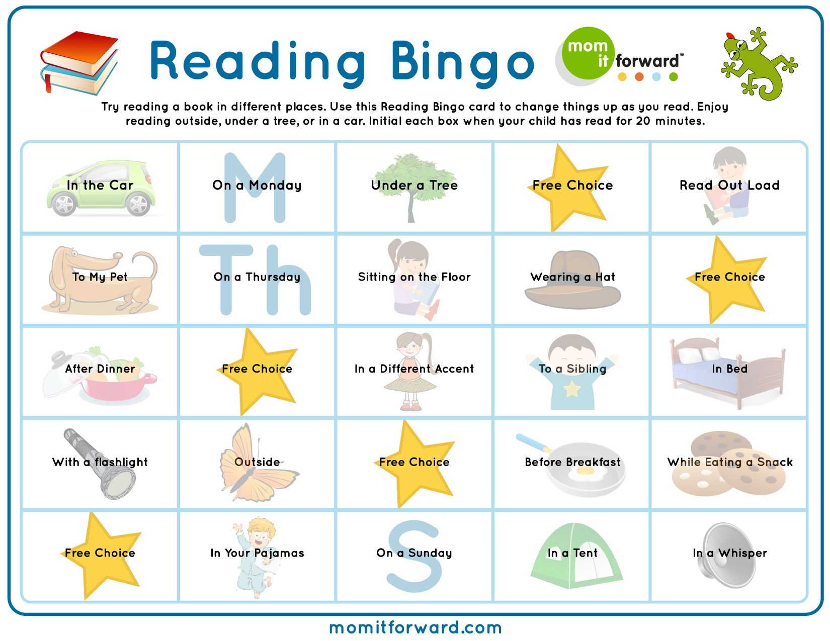 Have Fun During The Summer With The Reading Bingo