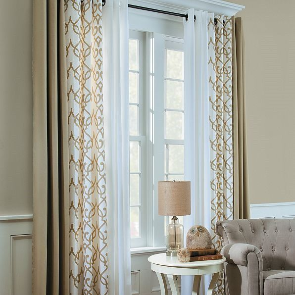 Mixing Curtains Interesting Window Treatments