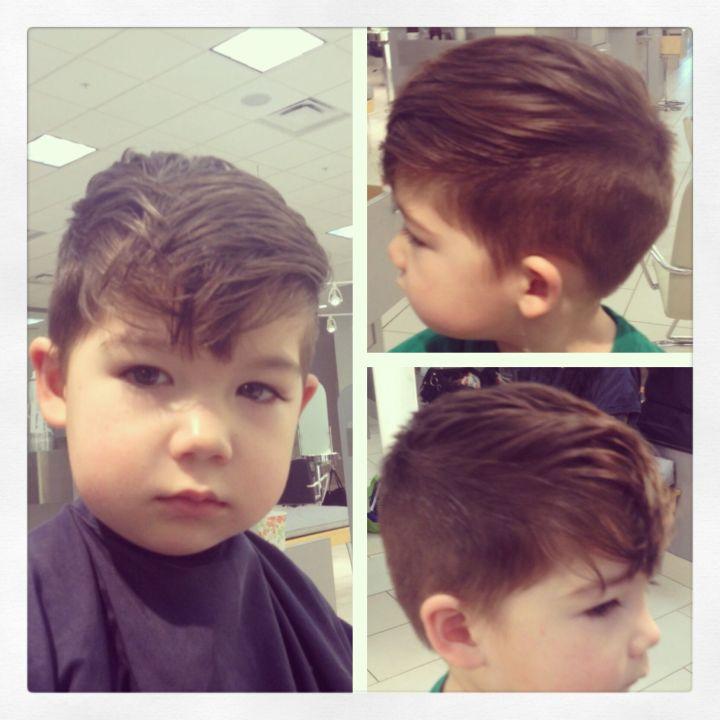 Little boys haircut Hairstylist Carly Wittrock