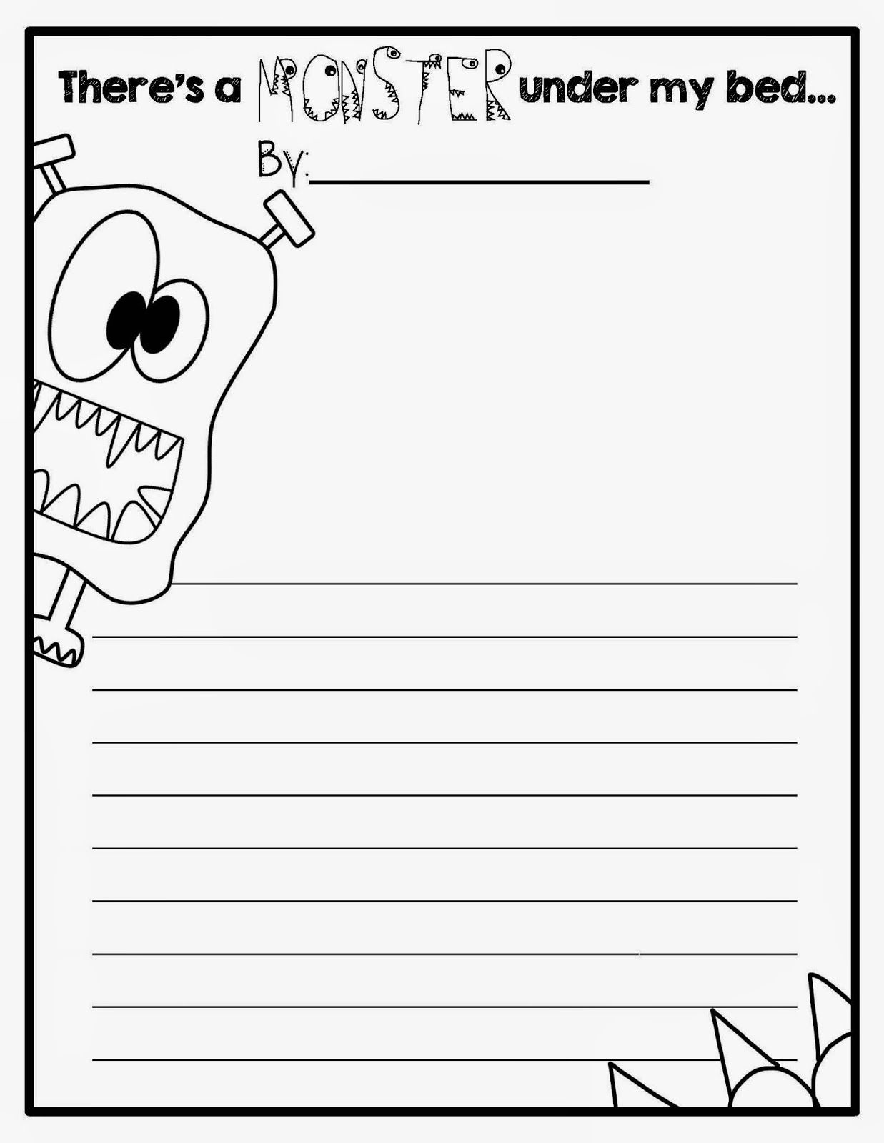 Writing Activity To Go With I Need My Monster