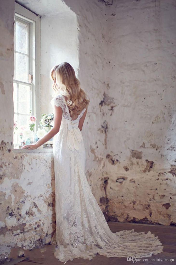 Cheap New Design Shiny Sheath Wedding Dresses Exquisite Sequins Cap