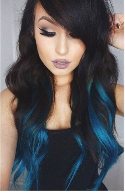 Jet black hair with dark blue highlights the best hair 2017 best 25 blue hair highlights ideas on pmusecretfo Choice Image