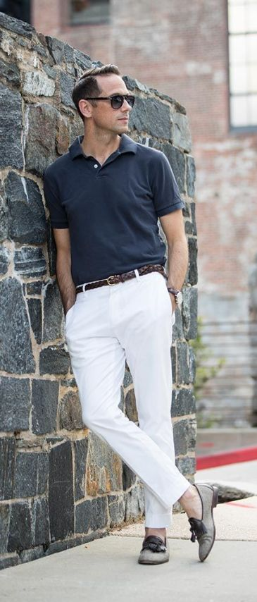 Image result for summer outfit with polo shirt