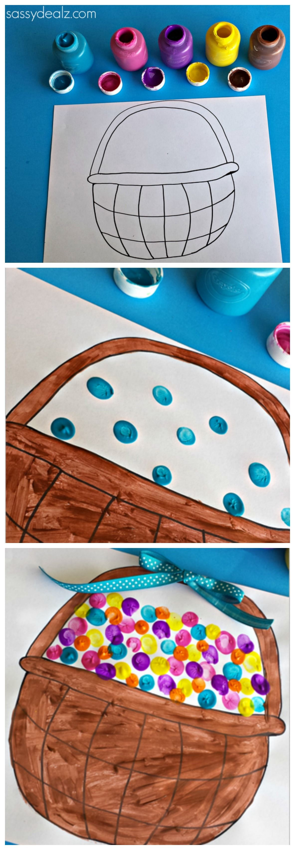 Fingerprint Craft For Kids Easter Eggs And Free Easter