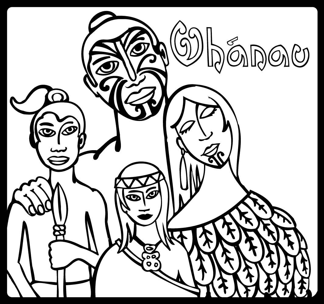 Maori Colouring Pages