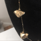 Gold nugget necklace layering chains and wraps