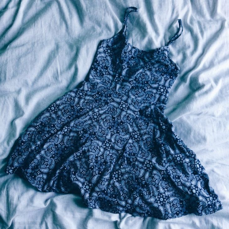 HuM Navy Paisley Skater Dress  Products  Pinterest  Products
