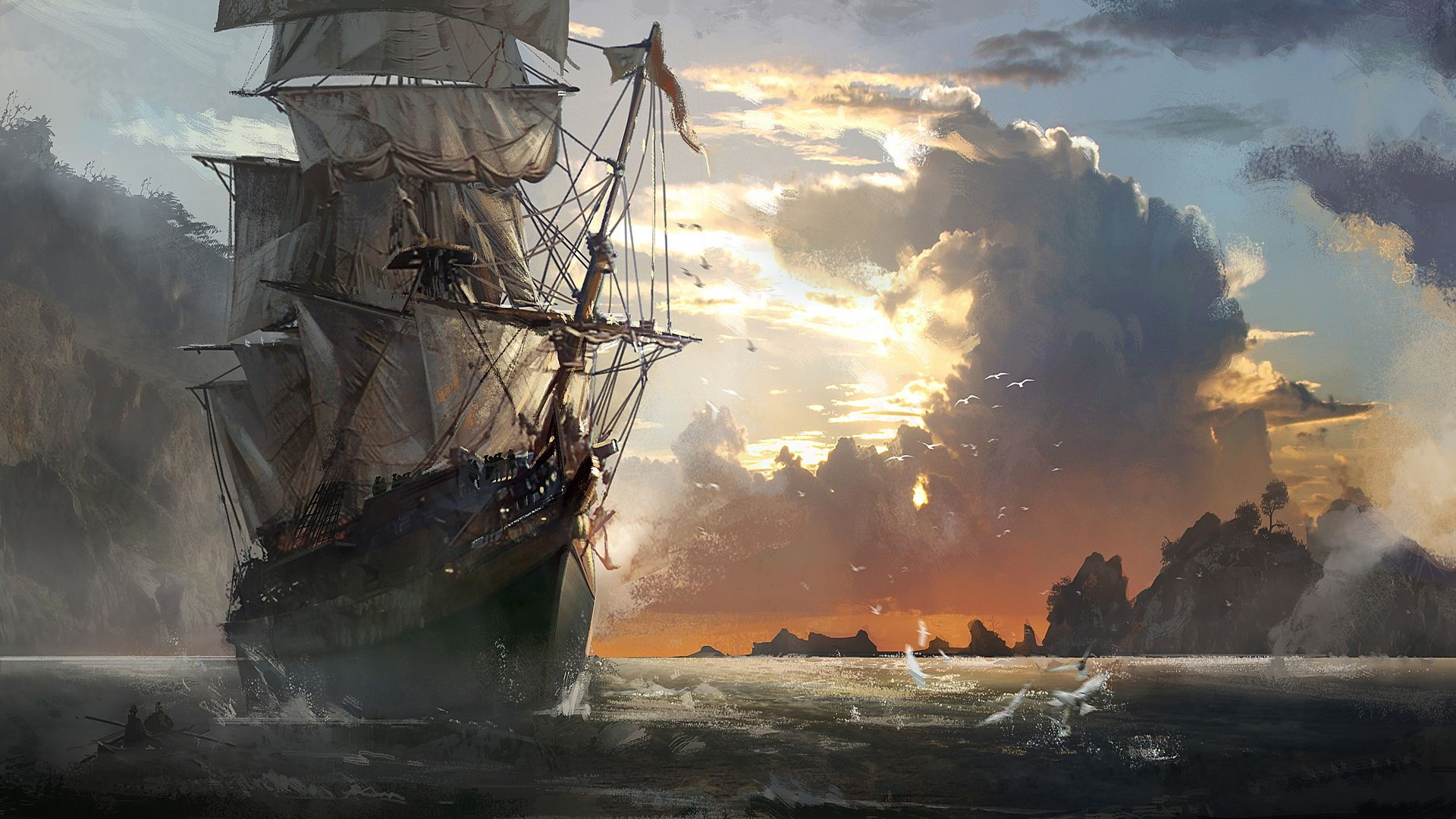 pirate ship wallpaper mobile is cool wallpapers | fantasy