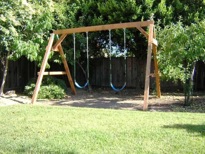 How to build a wooden swing set everything outdoors